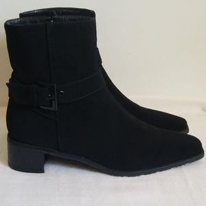 Stuart Weitzman Black  Buckle Ankle Boot
